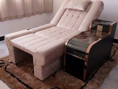 轩诺 理疗店沙发足浴足疗沙发床电动按摩沙发美甲美睫躺椅洗脚凳泡脚