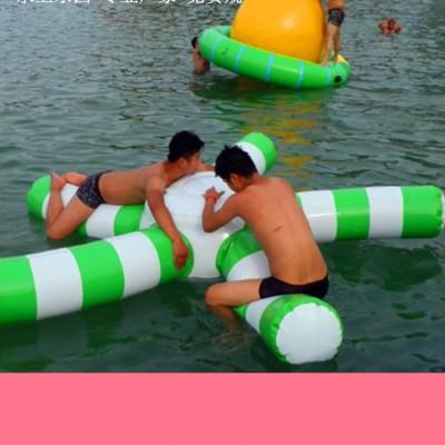 豹伟水上漂浮玩具 水上跑步机风火轮水上乐园组合支架水池