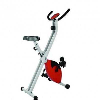 新款 折叠迷你X型健身车 带心率动感单车 家用脚踏自行车