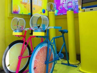 爆款代理 动感单车网红榨汁机  动感单车榨汁机加盟