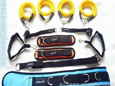 健身套装,乳胶管拉力器,四管拉力绳,**室内外四管拉力绳 弹